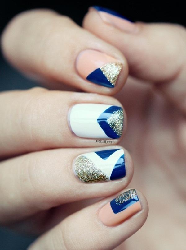 Simple Glitter Nail Art designs7