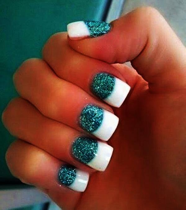 Simple Glitter Nail Art designs9