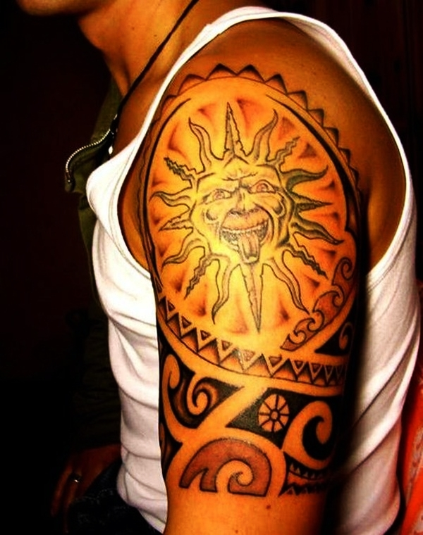 Sun Tattoo Designs for Men and Women (11)