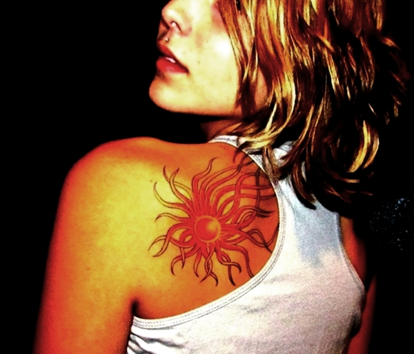 Sun Tattoo Designs for Men and Women (19)