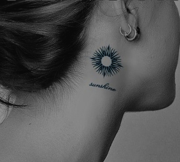 Sun Tattoo Designs for Men and Women (29)