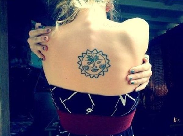 Sun Tattoo Designs for Men and Women (7)