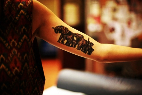 Elephant Tattoo Designs for Girls19