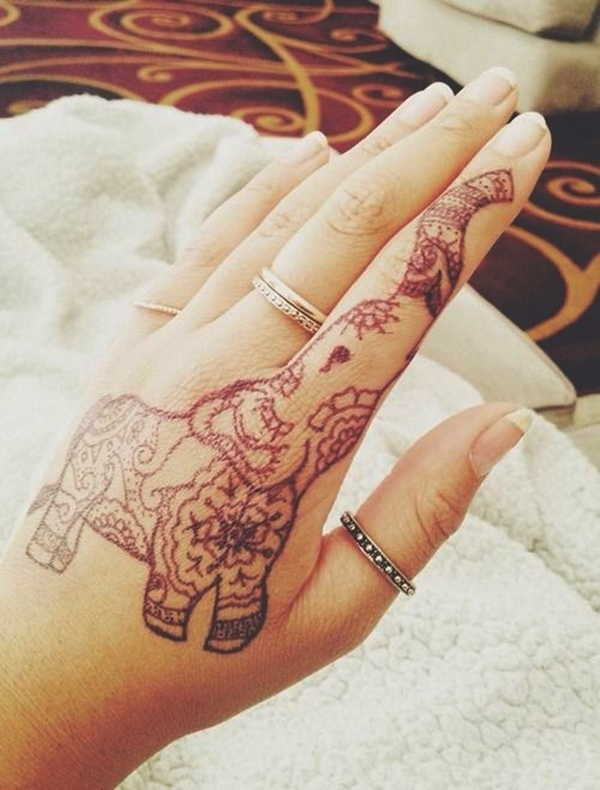 Elephant Tattoo Designs for Girls2