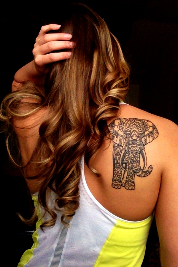 Elephant Tattoo Designs for Girls7