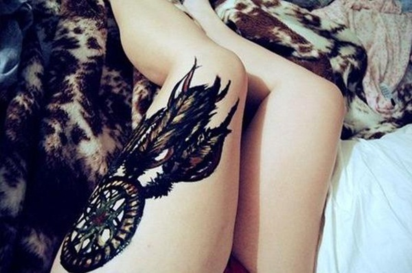 Sexy Dreamcatcher Tattoo Designs for Girls7