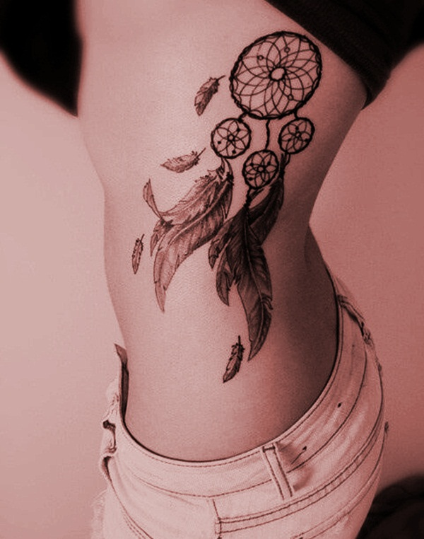 best 55 sexy dreamcatcher tattoo designs for girls. Black Bedroom Furniture Sets. Home Design Ideas