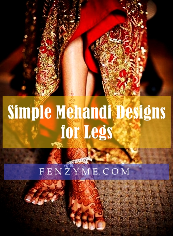 Simple Mehandi Designs for Legs1.1