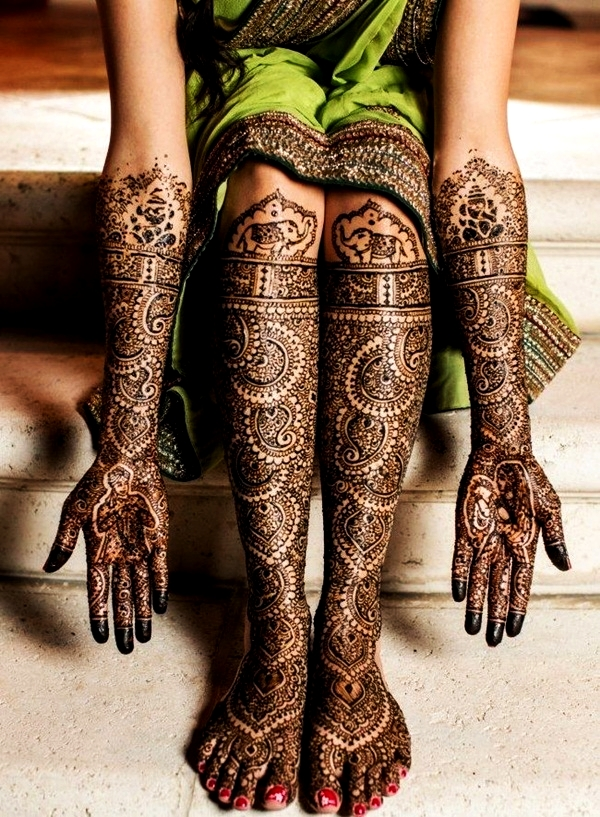 Simple Mehandi Designs for Legs2