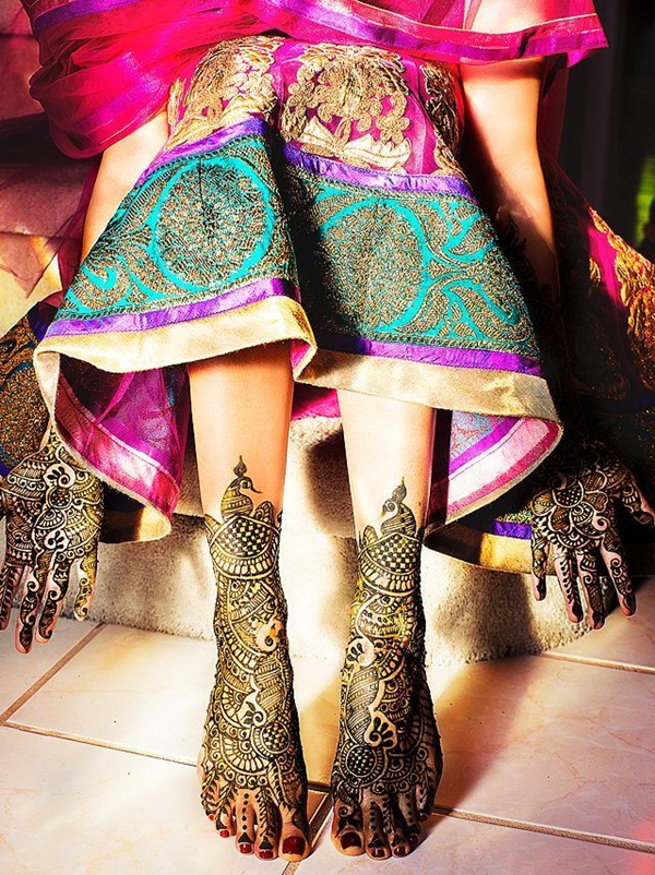 Simple Mehandi Designs for Legs4