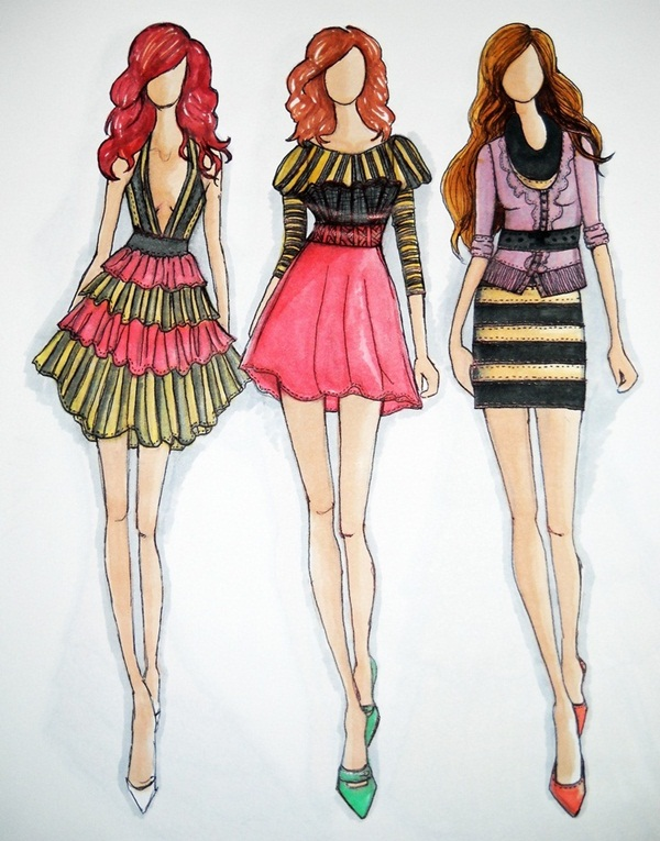 Glamorous Fashion Sketches and Illustrations Best 50