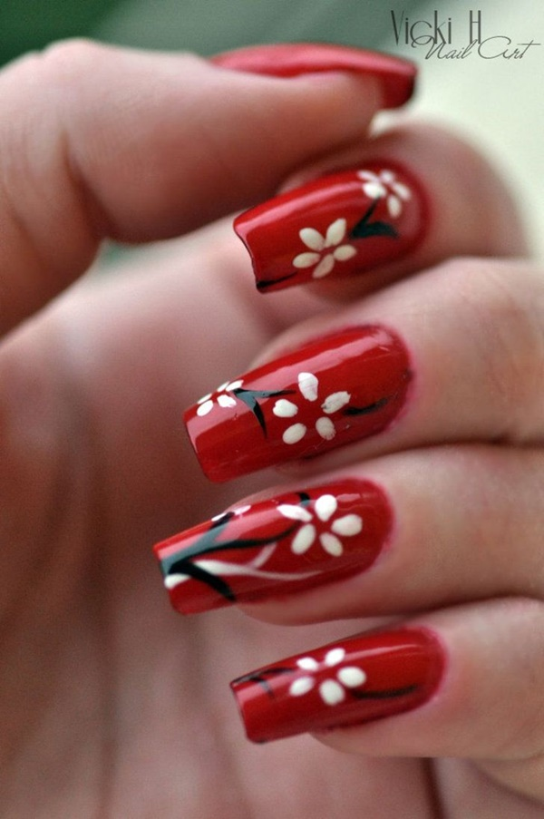 Red Nail Art Designs4