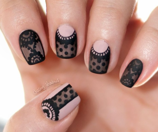 Pics Of Nail Art: 40 Classy Black Nail Art Designs For Hot Women