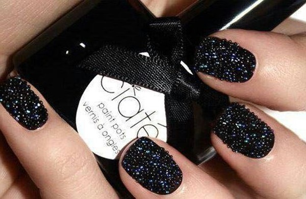 Black Nail art designs11