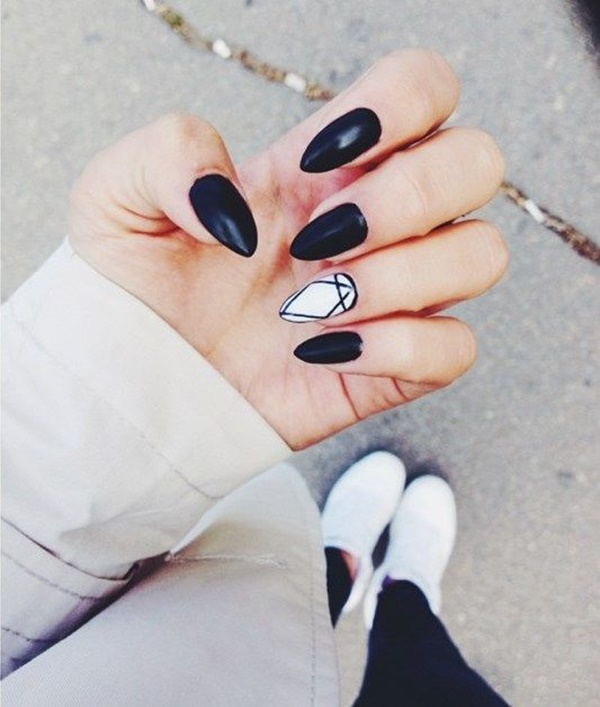 Black Nail art designs12
