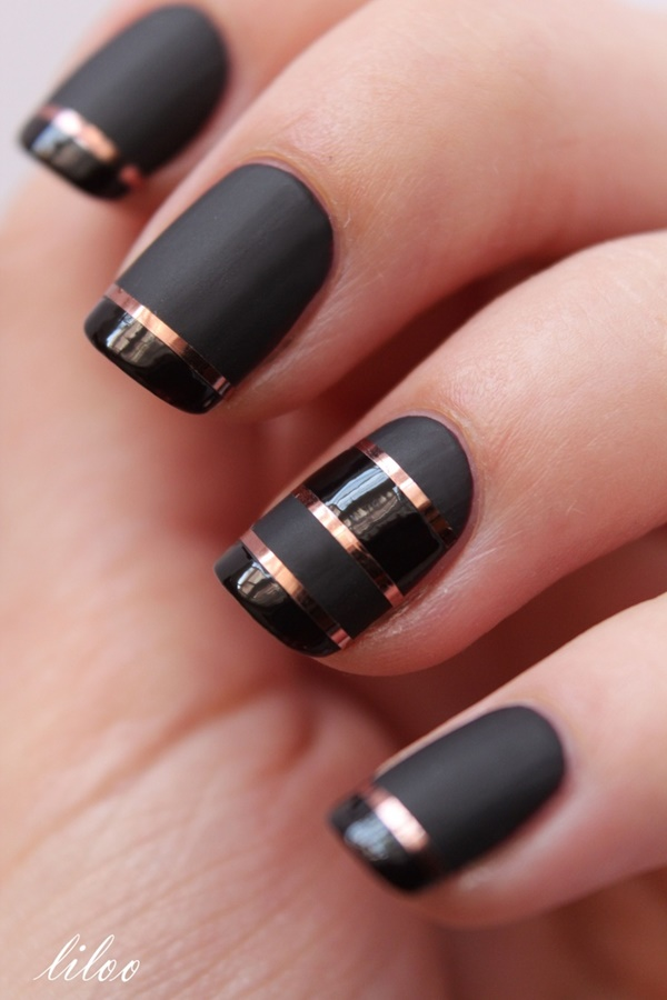 Black Nail art designs3