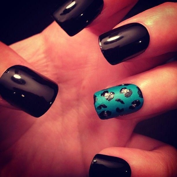 Black Nail art designs6