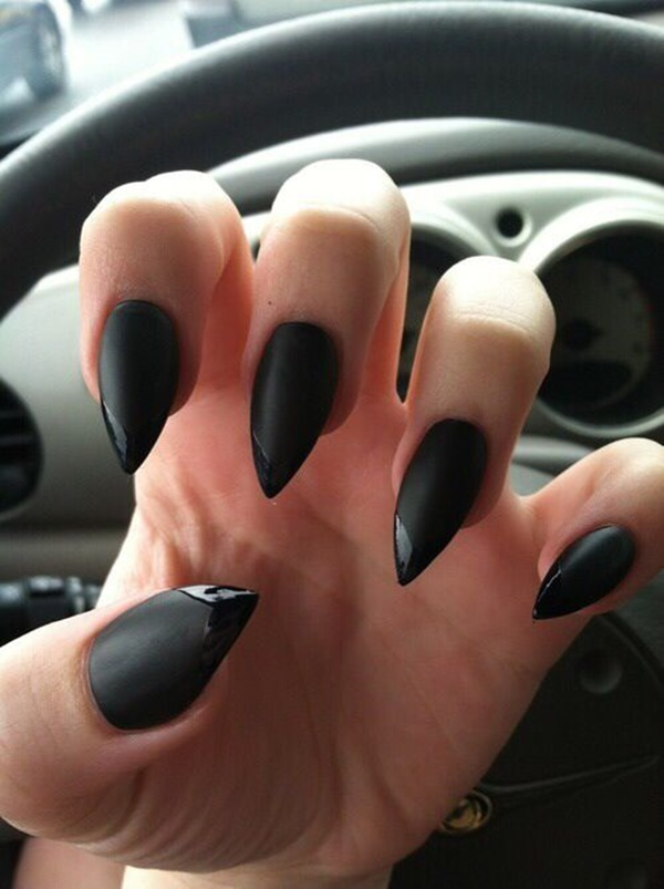 Black Nail art designs8