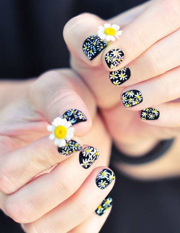 Easy Flower Nail Art Designs for Beginners1.1