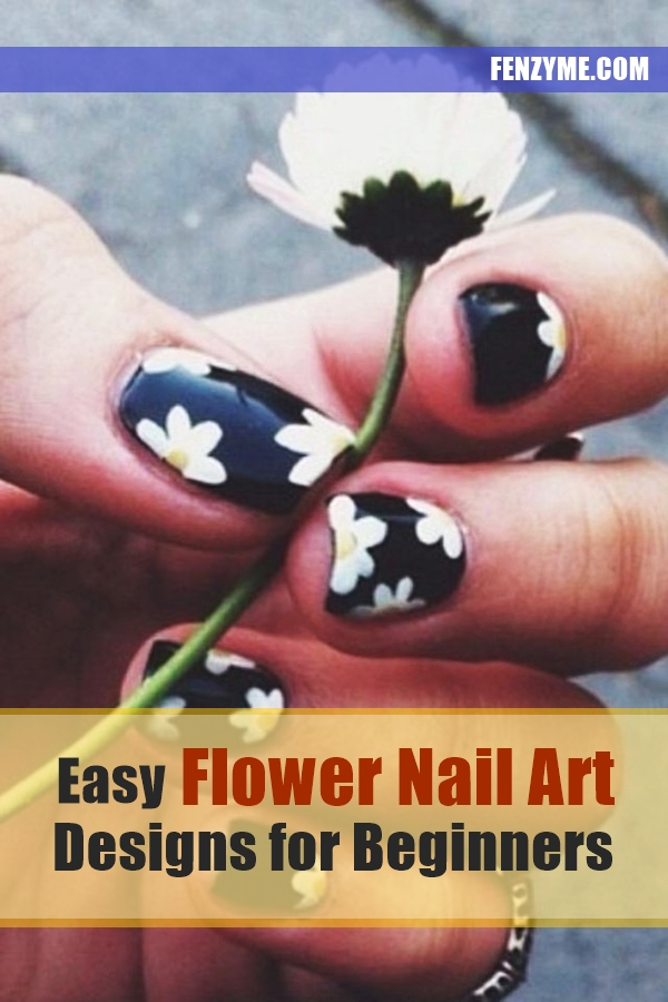 Easy Flower Nail Art Designs for Beginners1.2