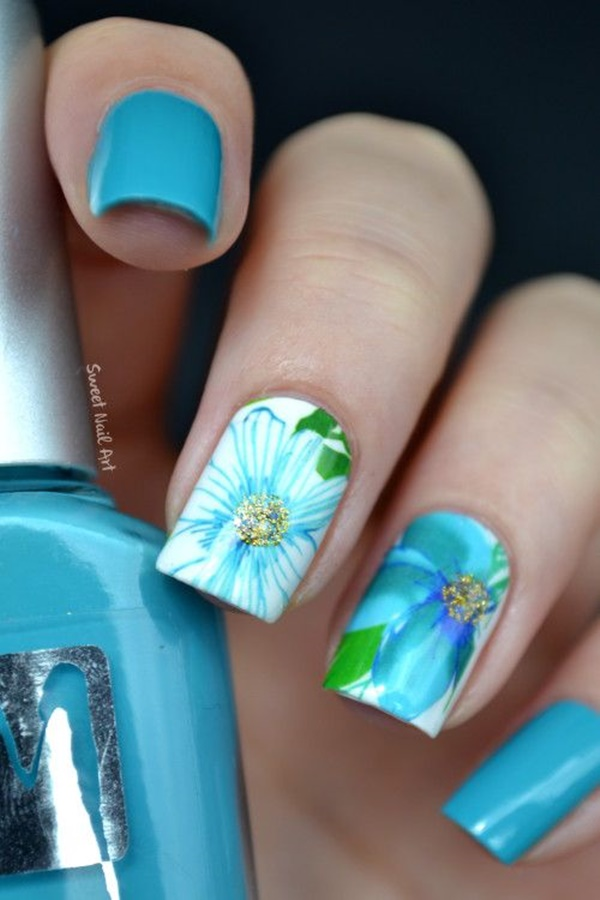 Easy Flower Nail Art Designs for Beginners1