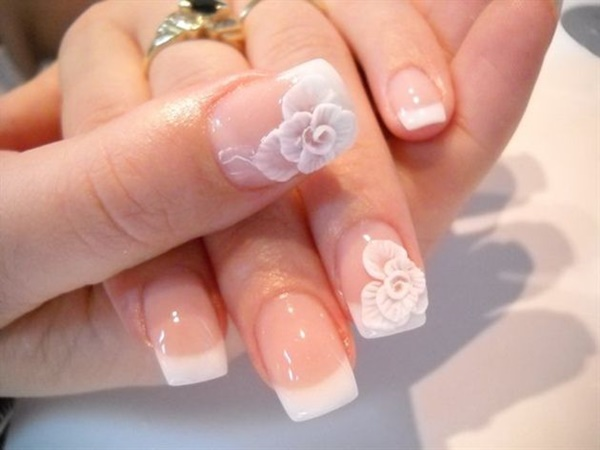 Easy Flower Nail Art Designs for Beginners15
