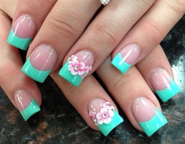 Easy Flower Nail Art Designs for Beginners16