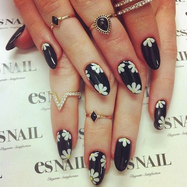 Easy Flower Nail Art Designs for Beginners17.1