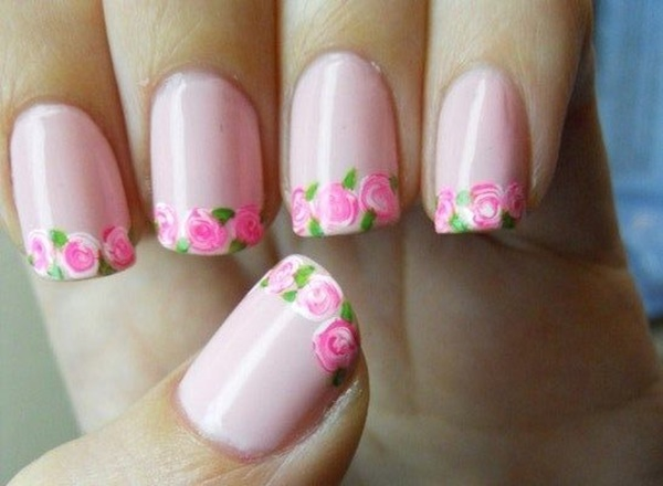 Easy Flower Nail Art Designs for Beginners17