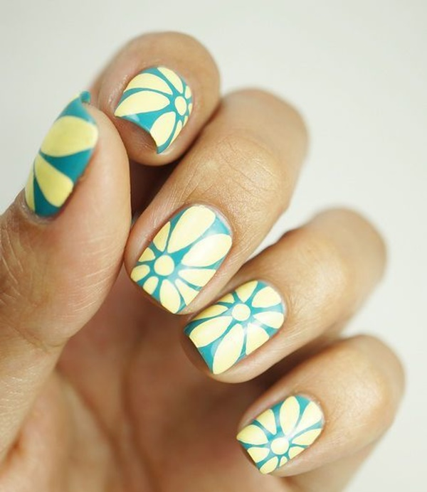 Easy Flower Nail Art Designs for Beginners19.1