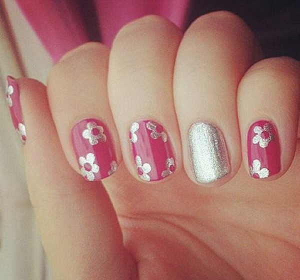 Easy Flower Nail Art Designs for Beginners22
