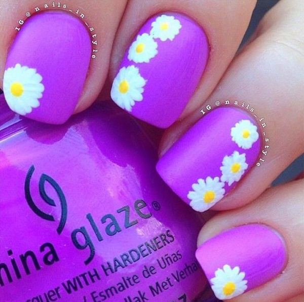 Easy Flower Nail Art Designs for Beginners31