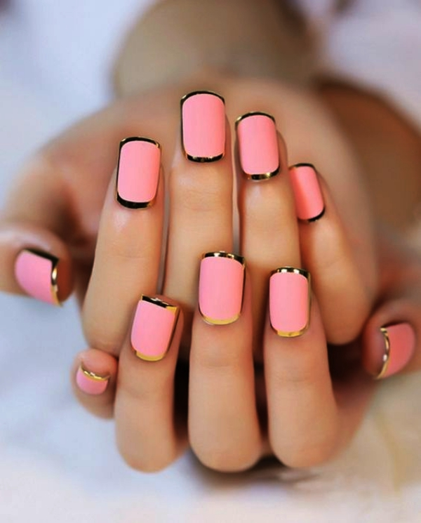 Nail Art Designs For Beginners: 70 Cute Pink Nail Art Designs For Beginners