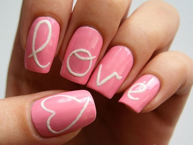 50 cute pink nail art designs for beginners 2015 prinsesfo Image collections