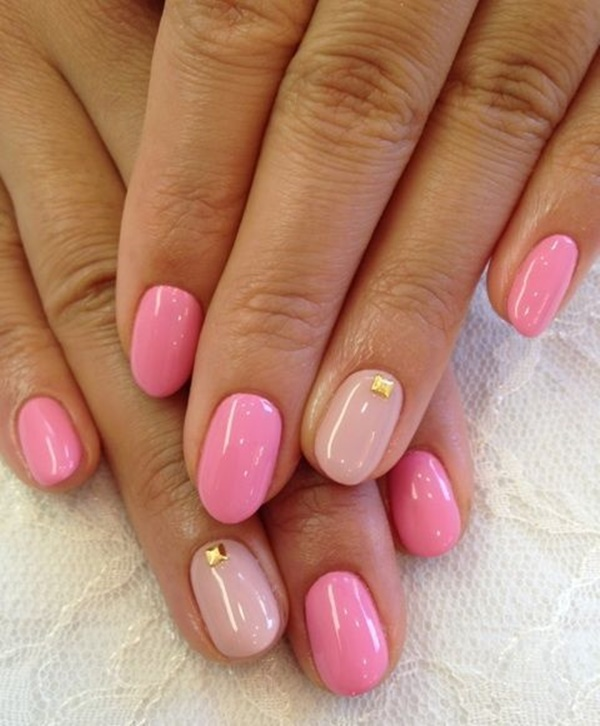 Pink Nail Art Designs for Beginners10