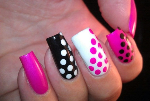 Pink Nail Art Designs for Beginners13