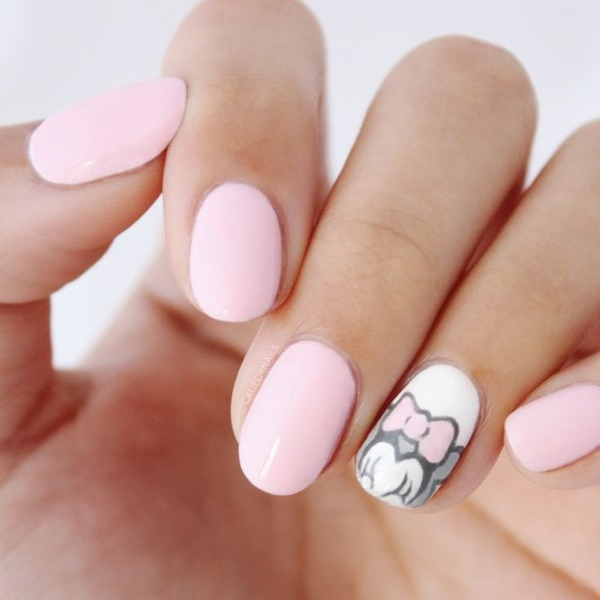 Pink Nail Art Designs for Beginners14.1