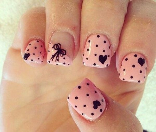 Pink Nail Art Designs for Beginners17