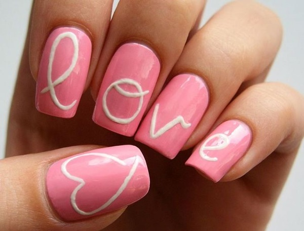 Pink Nail Art Designs for Beginners18