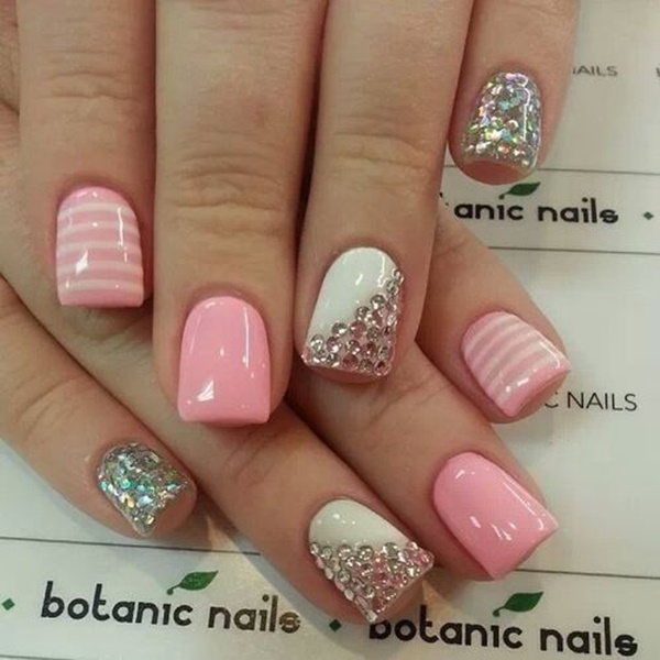 Pink Nail Art Designs for Beginners19.1