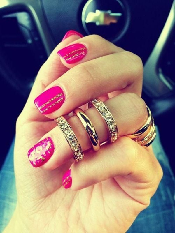 Pink Nail Art Designs for Beginners7