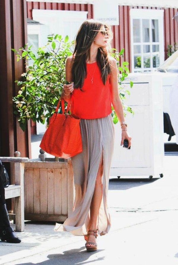 Maxi Skirt Outfits Ideas for Girls11.1