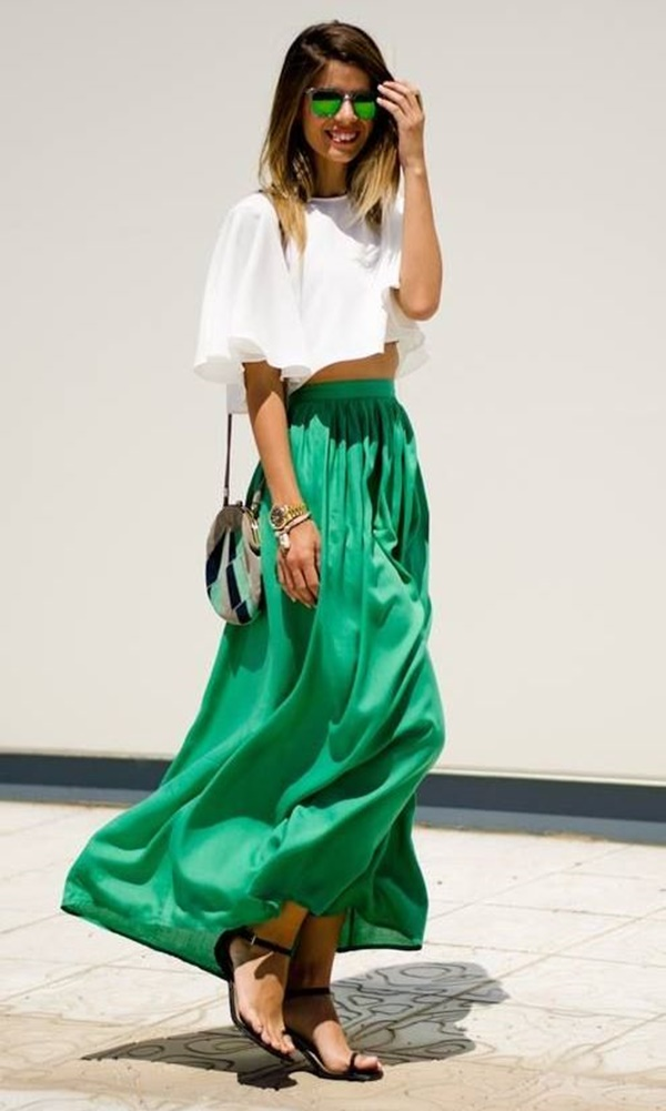Maxi Skirt Outfits Ideas for Girls11
