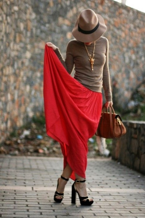 Maxi Skirt Outfits Ideas for Girls13