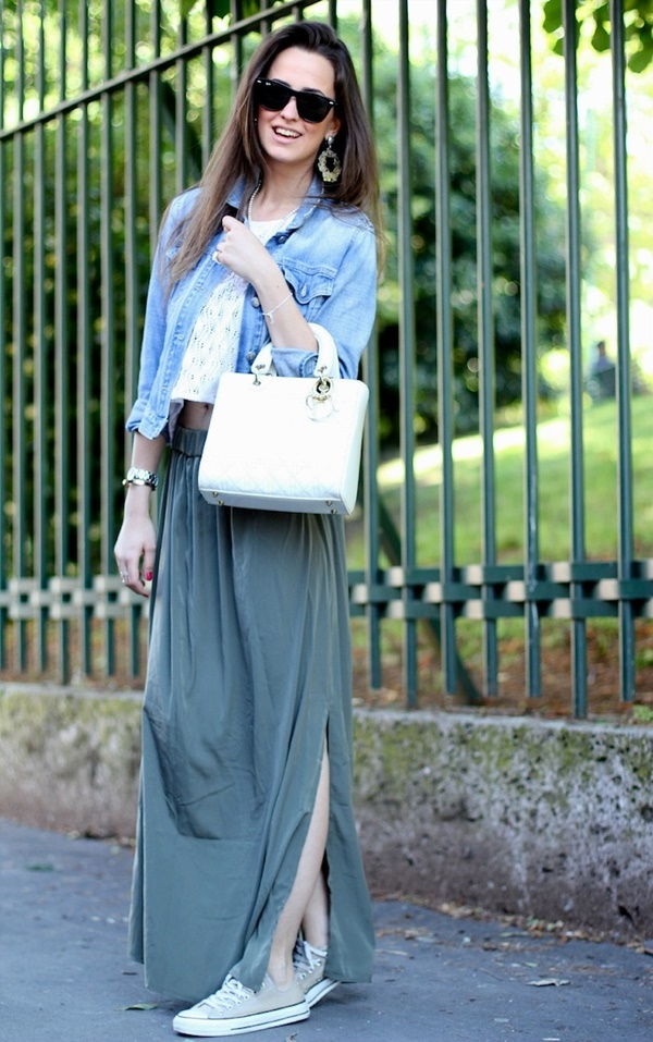 Maxi Skirt Outfits Ideas for Girls14