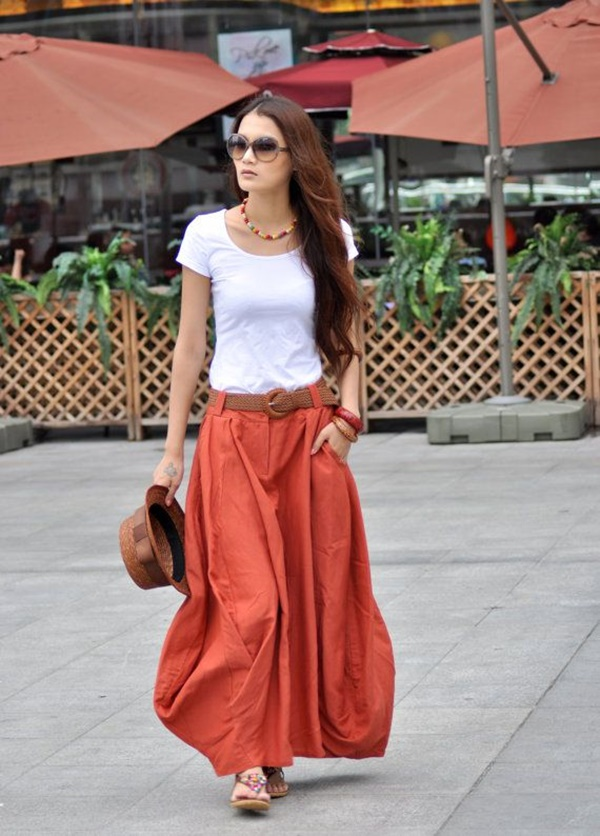 Maxi Skirt Outfits Ideas for Girls8
