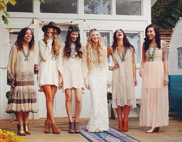 Mismatched Bridesmaid Dresses24