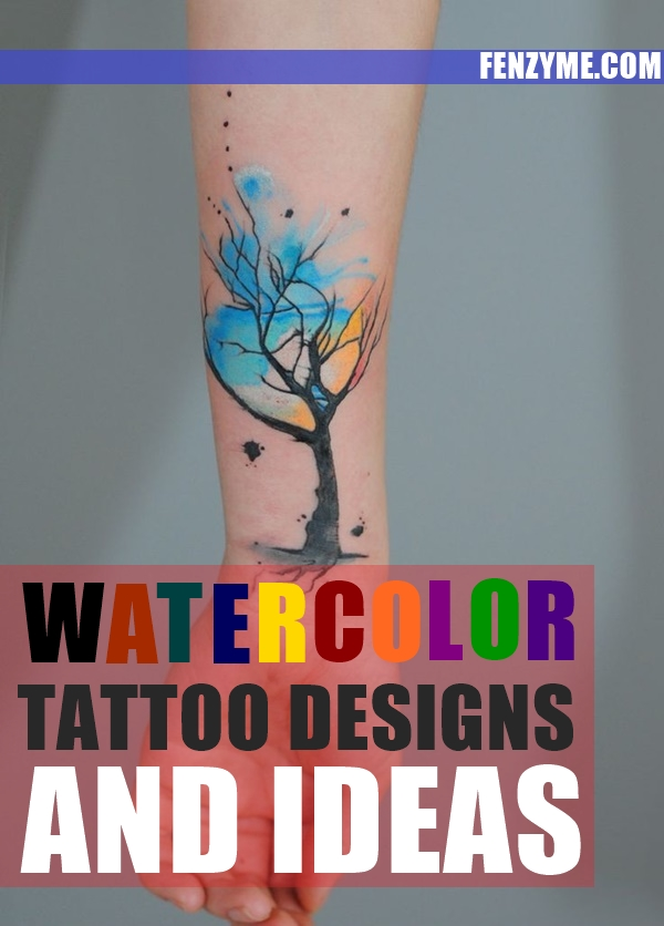 Watercolor Tattoo Designs and Ideas1.1