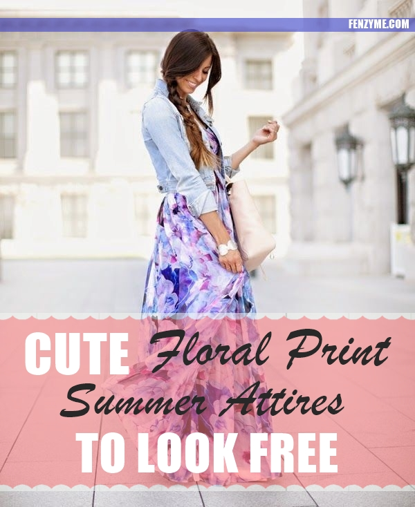 Cute Floral Print Summer Attires1.1