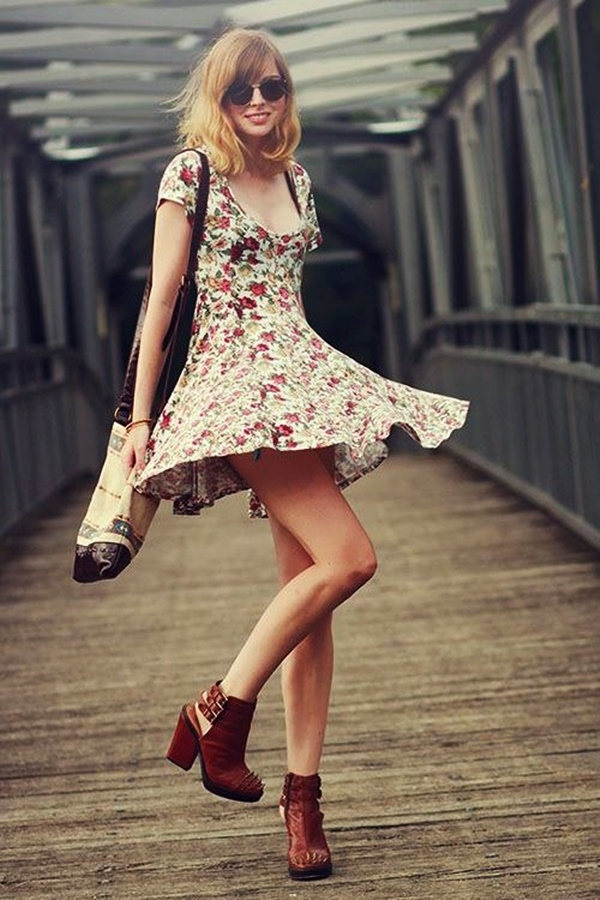 Cute Floral Print Summer Attires1.3